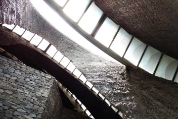 <p>Although it is made from stone, the inside of the Stone Church is very bright</p>