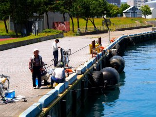 Aoi Umi Kōen is a favourite spot for Aomori's fishermen