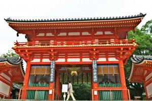八坂神社的红色阁楼