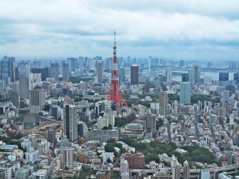 <p>从六本木森大厦看到的东京塔</p>