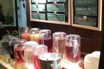<p>A colorful selection of drinks worthy of any potions master &nbsp;</p>