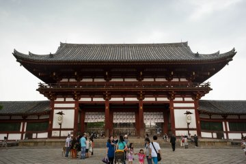 <p>The entrance to Todaiji Temple</p>