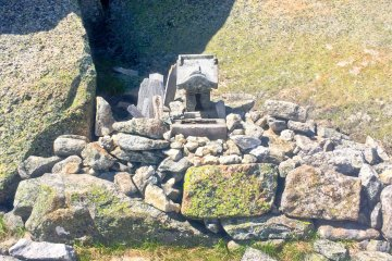 <p>A mini-shrine at the base of Mount Kinpu</p>