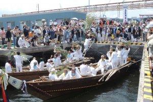 Boats off Honmoku fishing port
