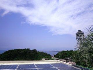 植物园外看到的风景:不远处的瞭望塔