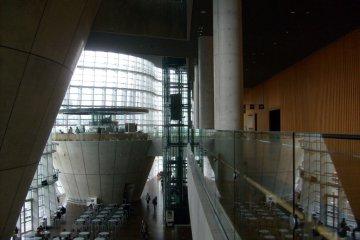 <p>The high-ceilinged interior</p>