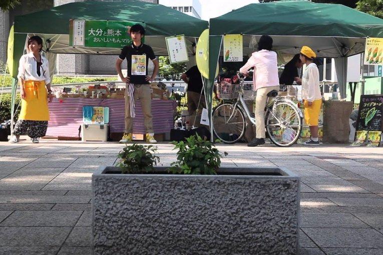 ตลาด 'Handmade and Green' ใน Nakanoshima