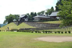 The stage compound at the Daisen City Maharoba Noh Theatre in Akita Prefecture.