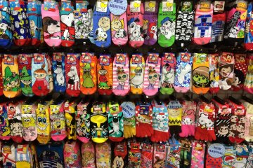 <p>Novelty and character socks are so popular you can find them everywhere. Snoopy, Hello Kitty, One Piece, &amp; Pokemon are just a few fun designs available.</p>