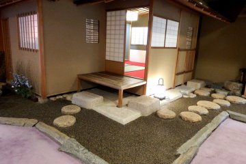 <p>Tea House in a corner on the first floor. Japanese tea is served to hotel guests for free</p>