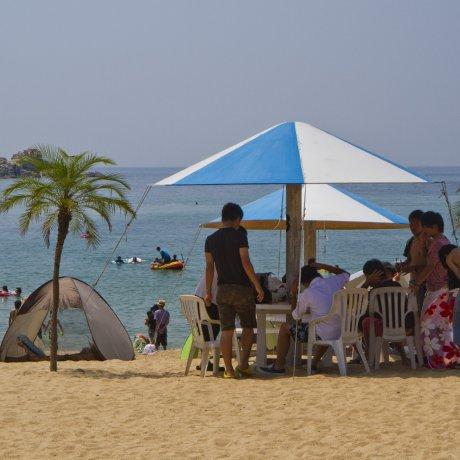 케야 해변에서 휴식하기