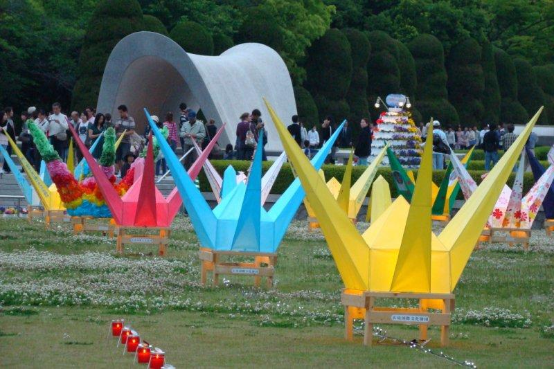 flower festival cranes