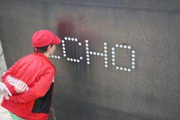 echo wall at Hijiyama