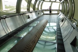 Dans ce couloir, il est possible de littéralement marcher au-dessus des vagues