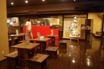 <p>Restaurant at level one of&nbsp;Nobeha no Yu</p>