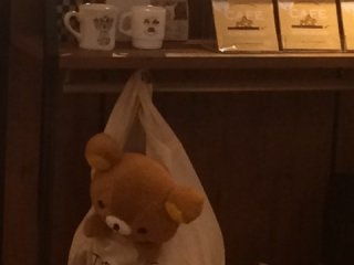 Rilakkuma in a shopping bag