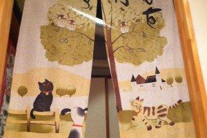 ManekiNeko is filled with cat decorations