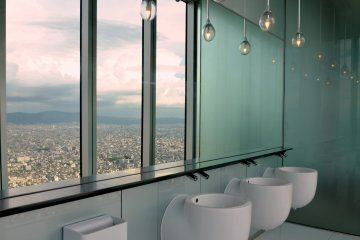 <p>Even washrooms have spectacular views!</p>
