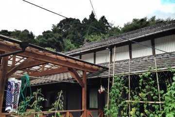 <p>Work station in a traditional Japanese farmhouse</p>