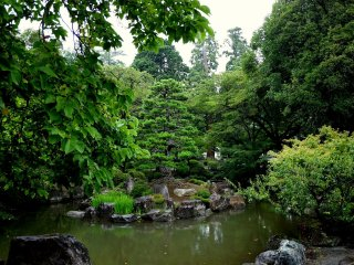 The pond is the heart of a garden originally designed by Muso Soseki (but probably extensively remodeled over the years)