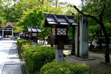 <p>Lanterns beside the path</p>