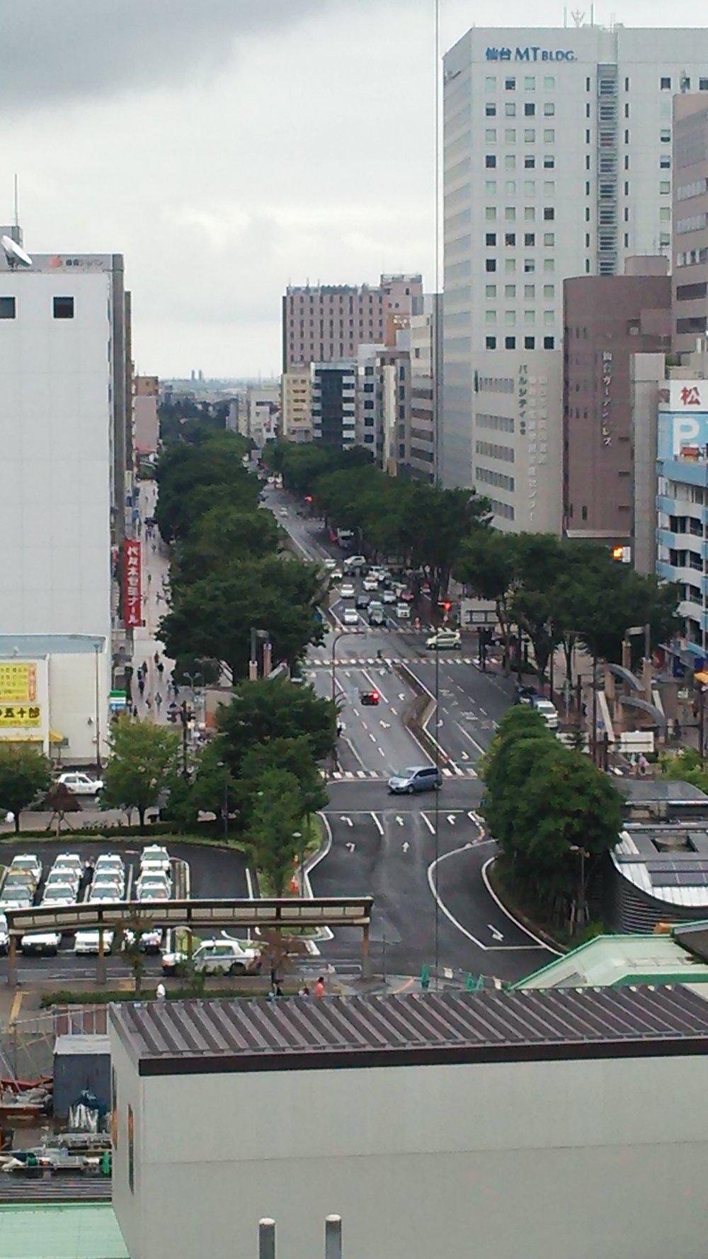 仙台駅東口から楽天ゴールデンイーグルスのホースタジアムへ続く宮城野通り、別名イーグルロード。