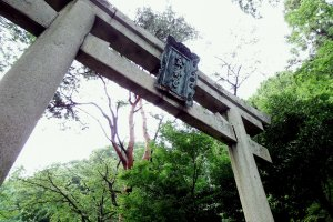 The main (first) Torii Gate of Kanegasaki Shrine