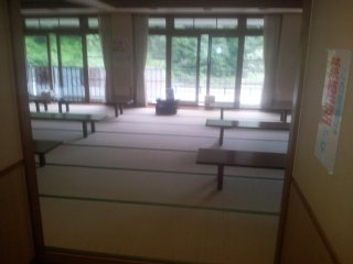 The tatami resting area