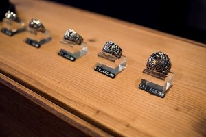 There is a variety of rings in different designs which can be sized to fit