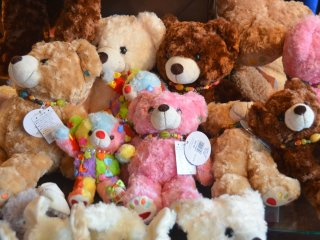 Cuddly teddies that come with different soothing tunes.