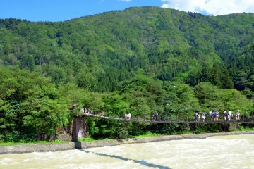 <p>To get to the village, one will have to cross the long bridge over the river.&nbsp;</p>