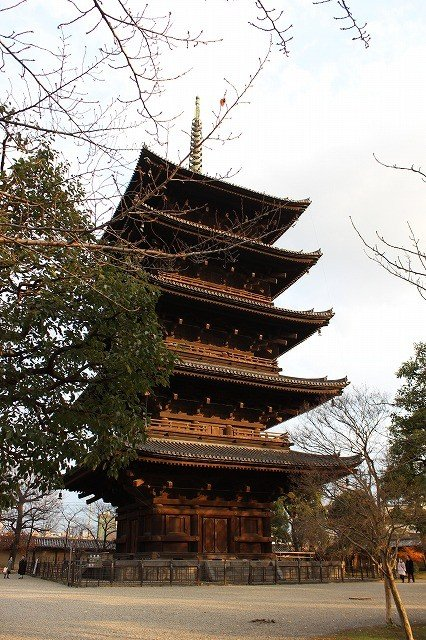 The tallest five-story pagoda in Japan