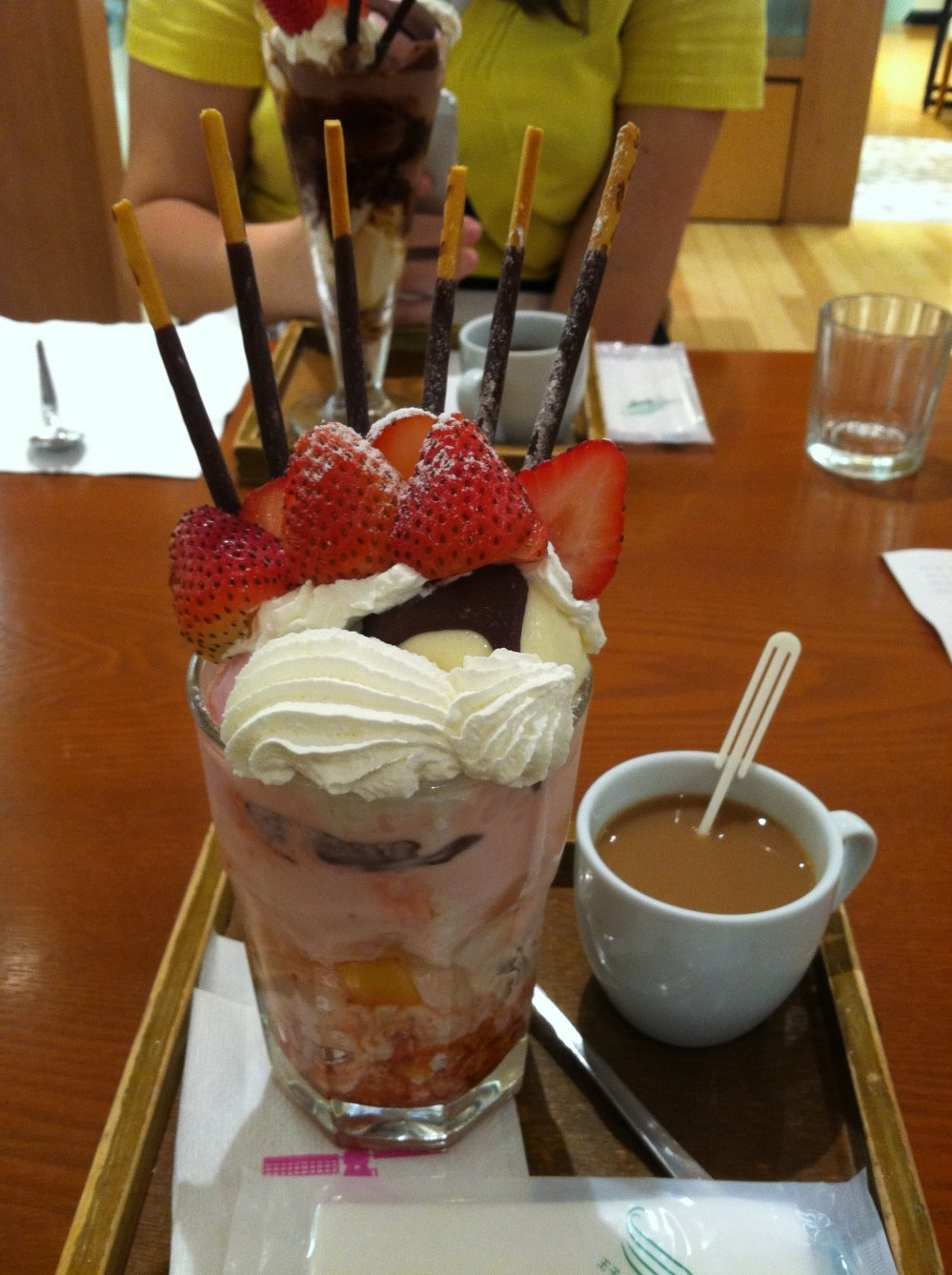"The ""Ichigo Hime,"" or strawberry princess, is the most popular parfait at Fusha"