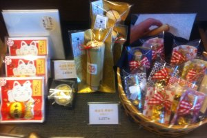 Whether you are after a small gift or a heirloom there is something special at this Kyoto Gold Leaf Store