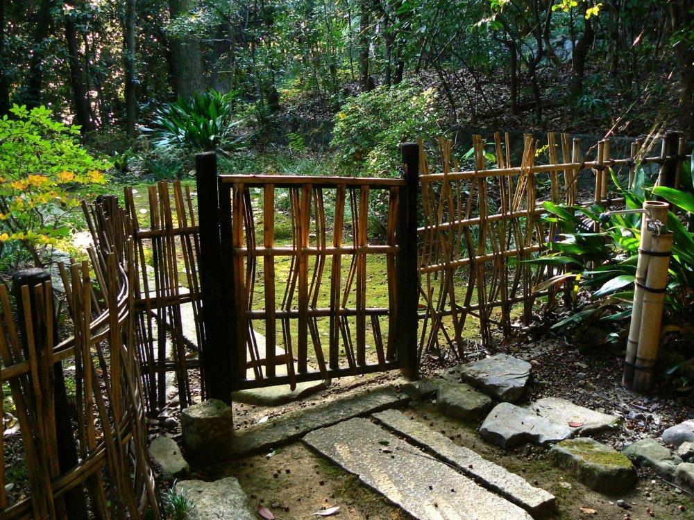 Rustic bamboo gate