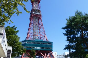 <p>The Sapporo TV Tower as seen from Odori Park</p>