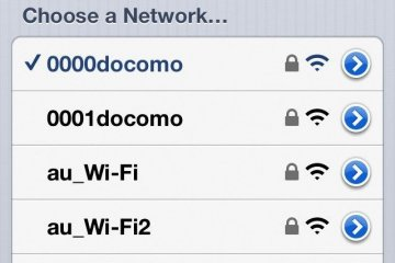 <p>成功使用電話連接docomo Wi-Fi。</p>