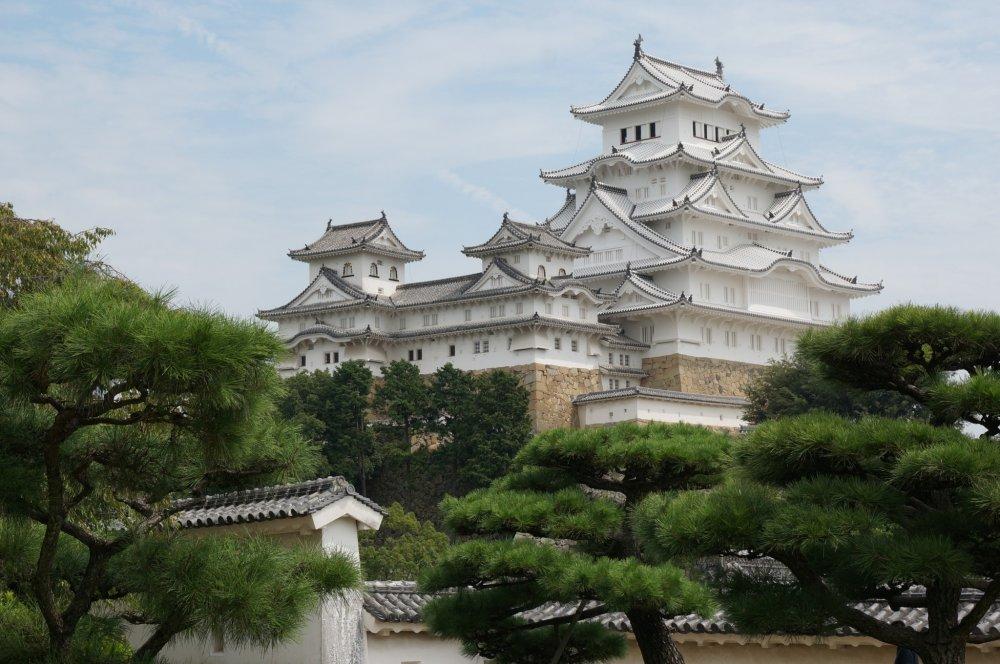 วิวจากสวนภายในบริเวณปราสาท Himeji สวยตลอดปีนะ