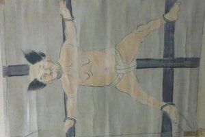 Hanging scroll of Torii Sunaemon, one of the heroes of Nagashino