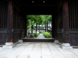 View through the small gate