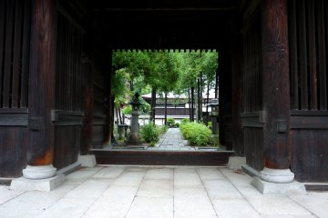<p>View through the small gate</p>