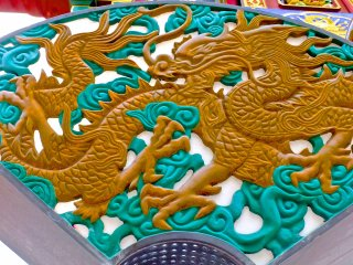 Mais um belo dragão no Masobyo - Chinatown de Yokohama