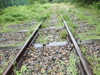インクラインのトロッコ線路跡