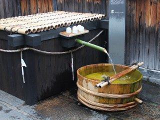 清酒の仕込み水として使われていた井戸