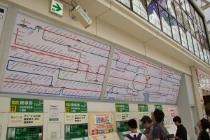 Checking the map of the vast JR East train system