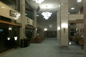 The lobby on a late evening