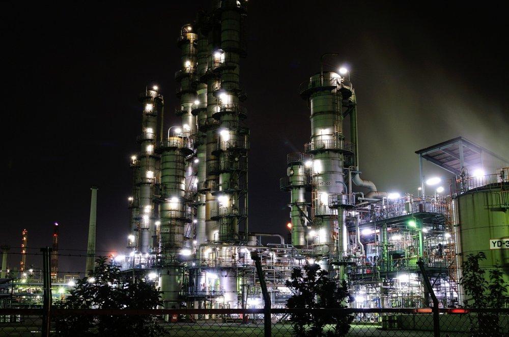 """""""Lâu đài ánh bạc"""" (Phức hợp công nghiệp Mizushima)"""