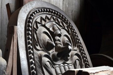 Faces in Todaiji Temple in Nara