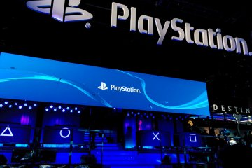 <p>PlayStation presentation at Sony&#39;s booth</p>