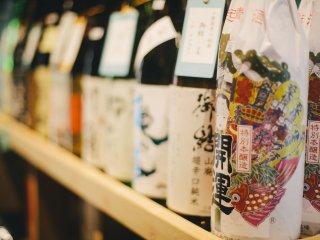 Botol-botol sake